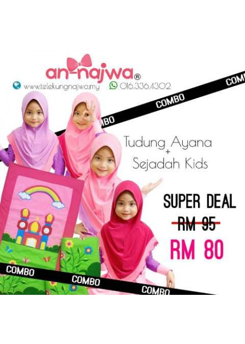 SUPER DEALS TUDUNG + SEJADAH G50